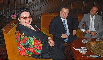 Jovanka Broz - Jovanka in her house in June 2009 with Ivica Dačić and Rasim Ljajić.