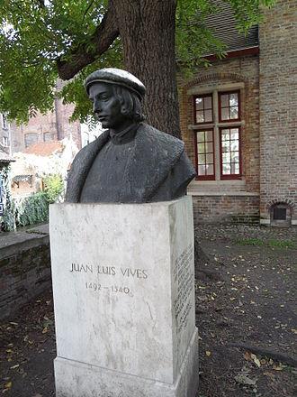 Juan Luis Vives - Bust of Juan Luis Vives in Bruges, Belgium