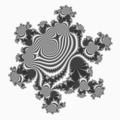 Julia set for fc(z)= z^6+A*z+c where c = 4.6875e-1 - 5.703125e-1 *I and A = 6.96854889392852783203125e-2 - 1.07958018779754638671875e-1*I.png