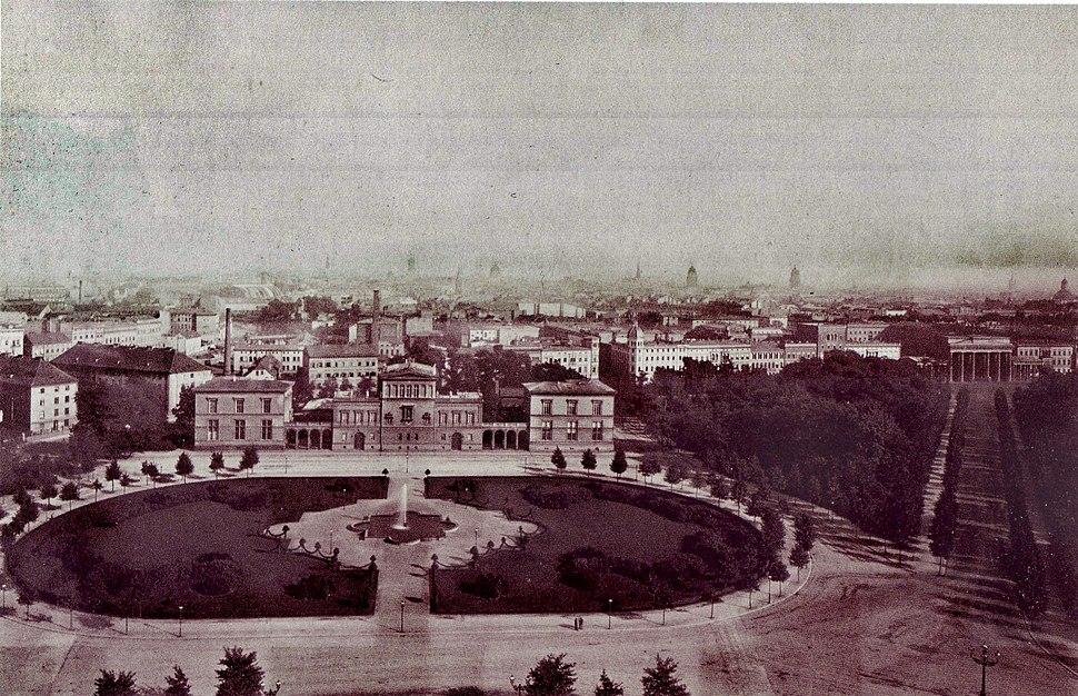 K%C3%B6nigsplatz Berlin, um 1880