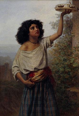 Kārlis Hūns - Image: Kārlis Teodors Hūns Young Gipsy Woman Google Art Project