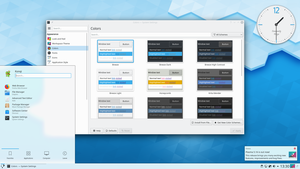A modern example of a graphical user interface using X11 and KDE Plasma 5.16