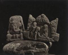 KITLV 151388 - Isidore van Kinsbergen - Ganesha and a fragment of a temple at the residency in Kediri - 1866-12-1867-01.tif