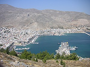 Kalymnos - Panorama of Pothia, capital of the island