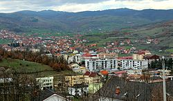 Panorama of the town of Kamenica