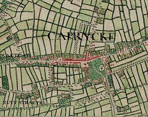 Kaprijke - Kaprijke on the Ferraris map (around 1775)