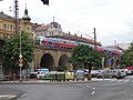 Karlín, Prvního pluku, viadukt, přes Křižíkovu k ulici Za Poříčskou branou.jpg