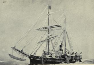 Last voyage of the Karluk - Karluk, caught in the Arctic ice, August 1913