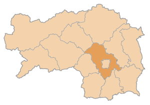 Graz-Umgebung District - Image: Karte Aut Stmk GU