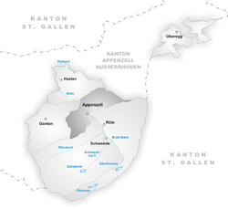Vị trí của Huyện Appenzell