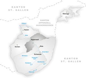 Appenzell Innerrhoden - Appenzell Innerrhoden districts