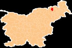 Loko de la Municipo de Pesnica en Slovenio