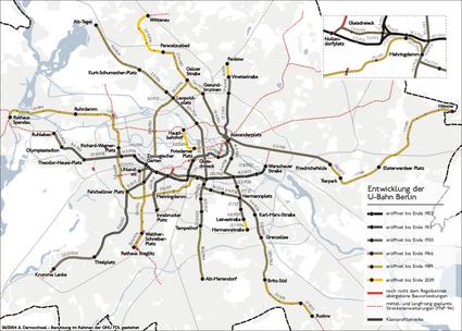Berlin Wall Subway Map.History Of The Berlin U Bahn Wikipedia