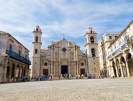 Havana Cathedral (Catholic) in Cuba completed in 1777 Kathedrale Havanna 001.jpg