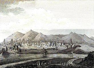 Kathmandu - Skyline of Kathmandu, circa 1793