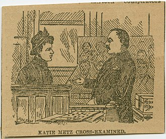 Courtroom sketch - An 1889 courtroom sketch from the trial of ex-Alderman Thomas Cleary, which was published in the New York Times.