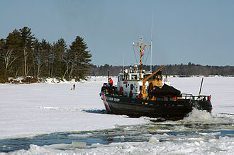 Kennebec River - Image: Kennebec River icebreaking