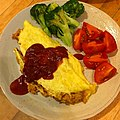 Ketchup flavored chicken rice omelette 正統派オムライス.jpg
