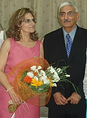 Kevork Bedigian and his wife Lisa Bairamian 3rd August 2010.jpg