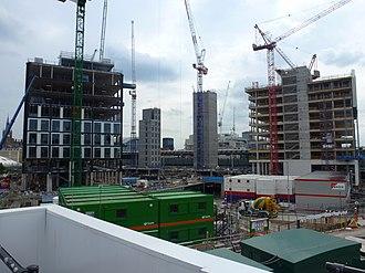 King's Cross Central - King's Cross Redevelopment in Summer 2013
