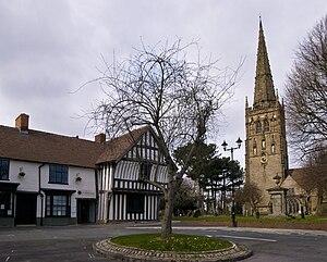 Saracen's Head - Image: Kings Norton St Nicolas and Saracens Head