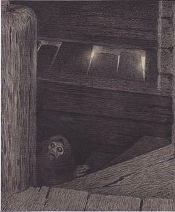 Kittelsen - Die Pest auf der Treppe - 1896