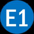 Kode Trayek E1 Pasuruan.png