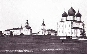 Kholmogory, Arkhangelsk Oblast - Cathedral Square in Kholmogory, 19th century