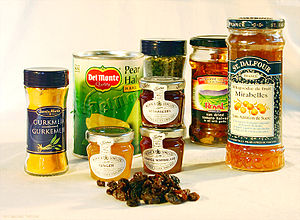 Various preserved foods