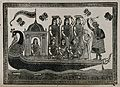 Krishna steering a peacock-headed boat carrying seven maiden Wellcome V0045010.jpg