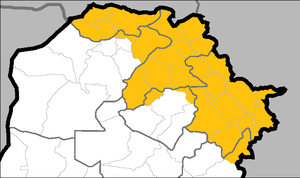 Iraqi Kurdistan presidential election, 2009 - Territories controlled by the KRG