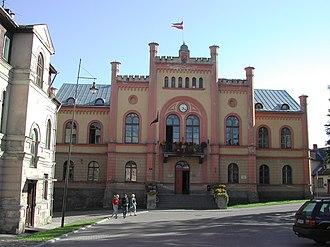 Kuldīga - Town hall of Kuldīga