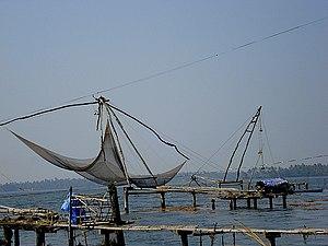 Kumbalangi - Chinese fishing nets