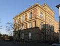 Kunstakademie Düsseldorf Westseite am Emma-Horion-Weg Ecke Eiskellerstraße mit Mosaiken und Namen-Fries.jpg