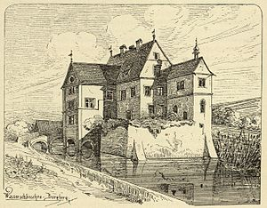 Maria von Linden - Schloss Burgberg in 1887. Linden had to sell the castle (pictured) in which she was born.
