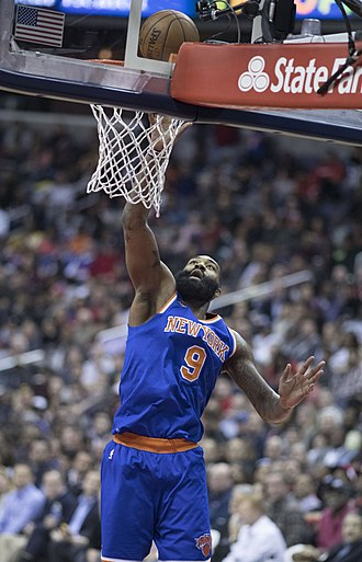 Kyle O'Quinn - O'Quinn with the Knicks in 2017.
