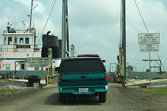 Louisiana Highway 82 - Image: LA82East Acadia Ferry Boarding