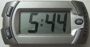 Digital clock - An LCD battery-operated clock without alarm