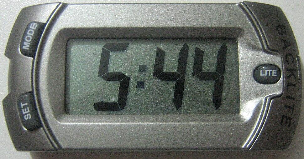 LCD Clock Grey