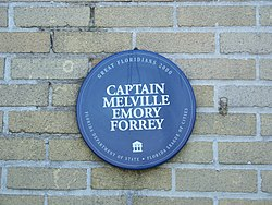 Photo of Melville Emory Forrey blue plaque