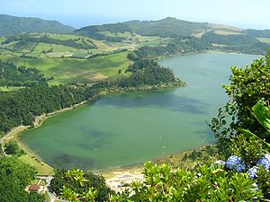 Geography of Portugal - The volcanic lake of Lagoa das Furnas, on the island of São Miguel