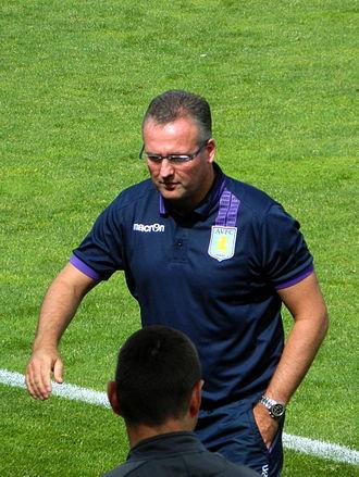 Paul Lambert - Lambert managing Aston Villa in 2013