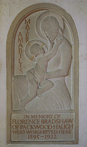 Lapworth Eric Gill bas relief