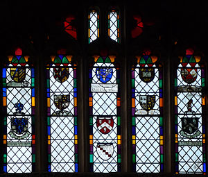 Lapworth - Armorial west window of church