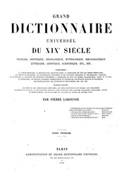 Larousse - Grand dictionnaire universel du XIXe siècle - As-At