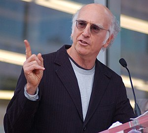 Larry David at a ceremony for Mary Steenburgen...