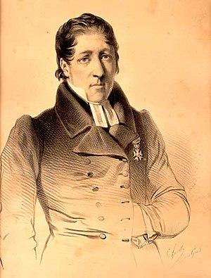Lars Levi Laestadius - Laestadius in 1839   (Note the Medal of Honor worn on his left lapel).