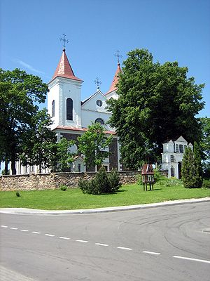 Laukuva - Image: Laukuvos baznycia