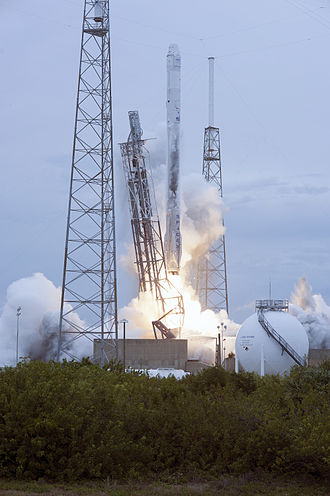 Falcon 9 v1.1 - A Falcon 9 v1.1 rocket launching the SpaceX CRS-3 Dragon spacecraft in April 2014.