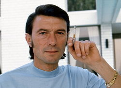 Laurence Harvey 1973. Foto: Allan Warren.